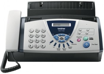 BROTHER FAX-T104 A4 THERMAL FAX, FAXT104ZP1